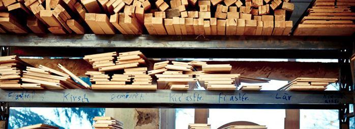 vielfaeltige Holzauswahl
