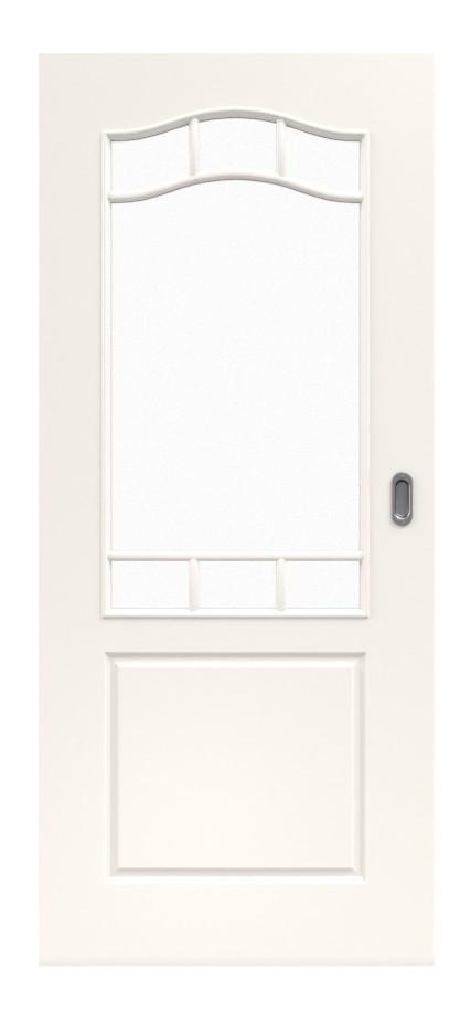 Provence Typ 4002-B-LA Sprosse 9 Weißlack Schiebetür - Westag & Getalit