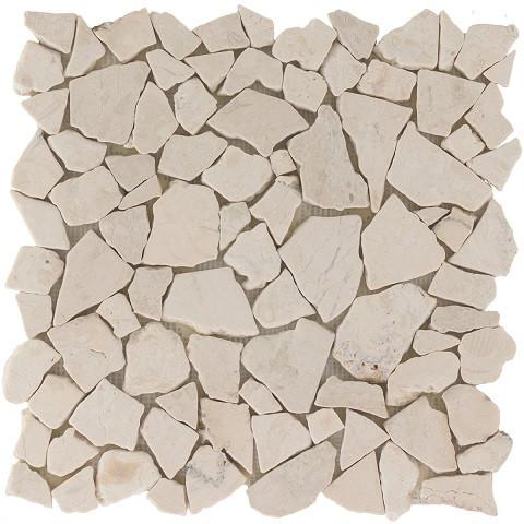 Natursteinmosaikfliesen Poly Biancone Matt 30,5 x 30,5 cm - Interio