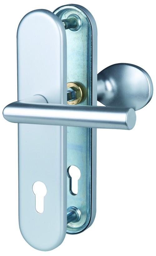 Sicura Ronny-LS/LS Aluminium F1 Schutzbeschlag für Wohnungseingangstüren - Südmetall