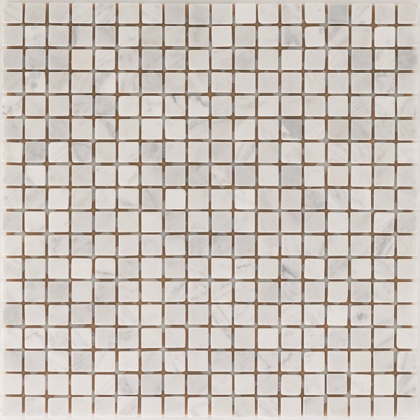 Natursteinmosaikfliesen White Wave Getrommelt für die Wand 30,5 x 30,5 cm - Interio