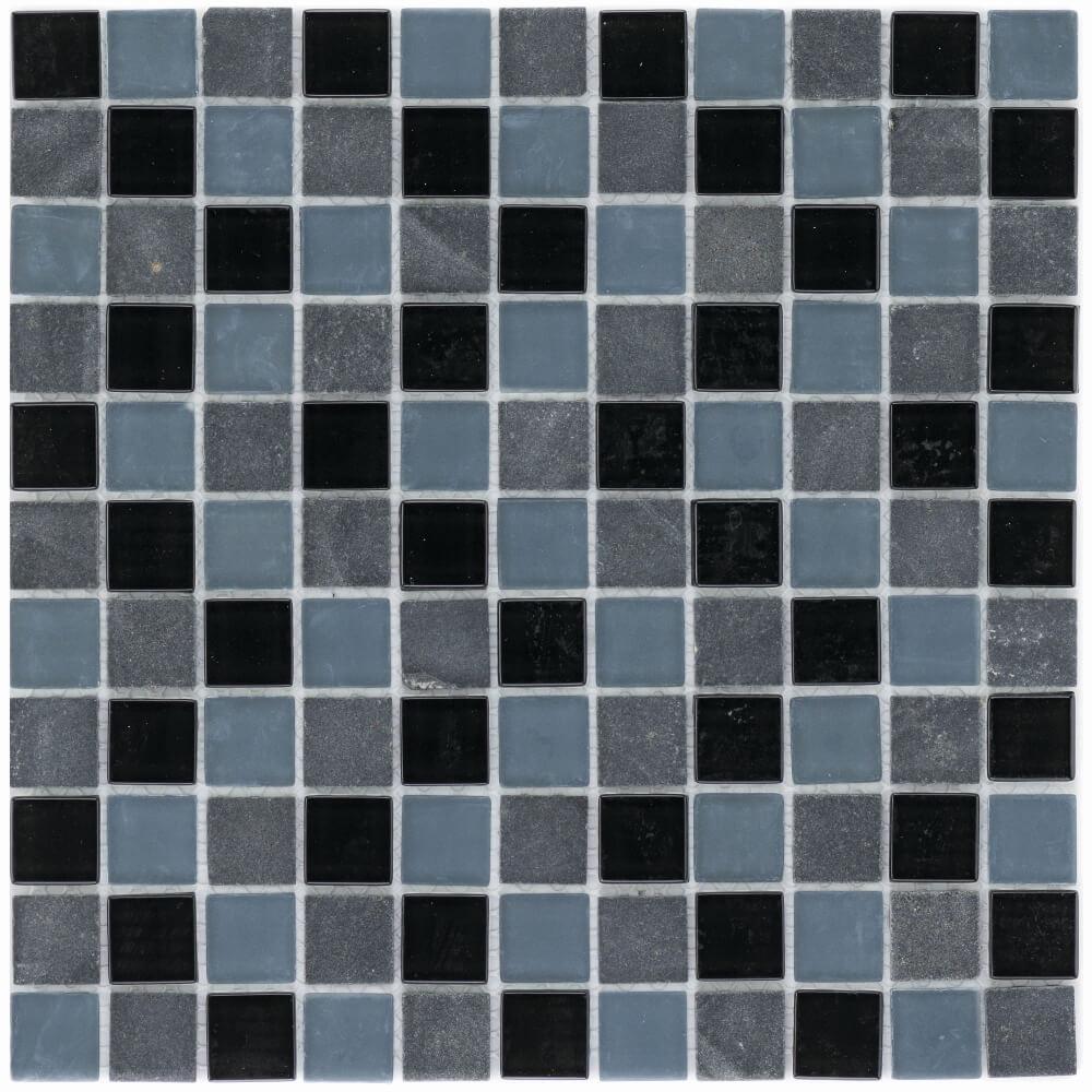 Ideal f/ür die K/üche und Badezimmer Fliesen-Bord/üre auch als Muster erh/ältlich Glas-Mosaik Mosaikfliesen Marmor Glas Mix Kobra Schwarz Grau 25 Wandfliesen Mosaik-Fliesen