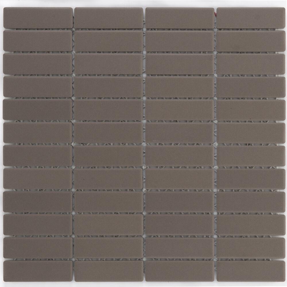Keramikmosaikfliesen Grey Matt für Boden und Wand 28,6 x 29,5 cm - Interio