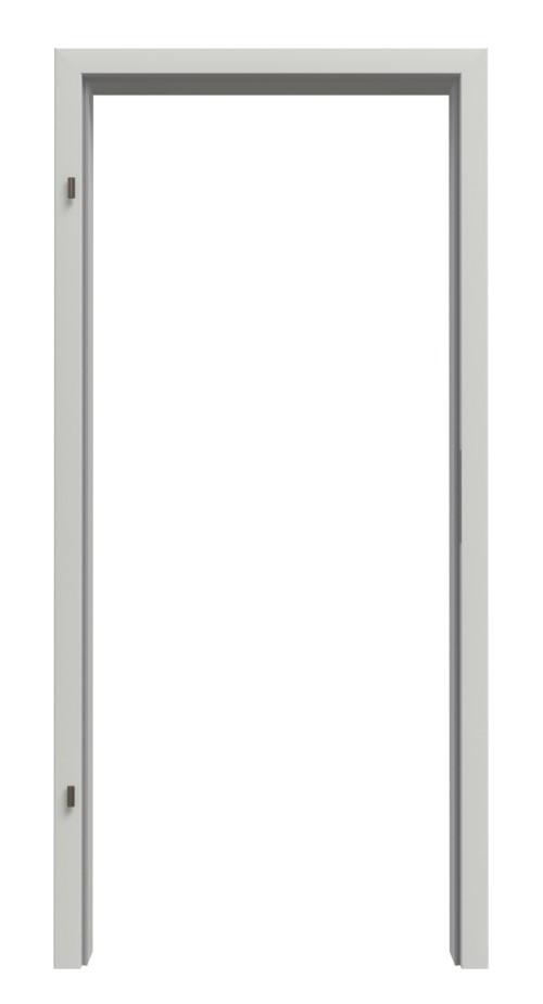 Frontansicht von Zarge für Rauchschutztüren Uni grau Perlstruktur RAL 7035 CPL mit Rundkante - Interio