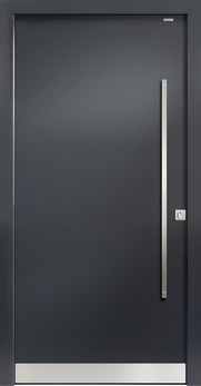 Bild der 91010 Glatt Aluminium Haustür ohne Glasausschnitt - Bayerwald