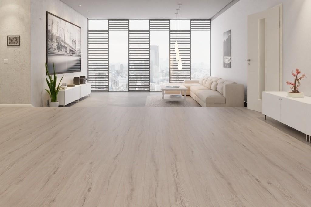 Century Eiche Grau Allover Laminat Superior Standard Plus D4175  - Swiss Krono Milieu Penthouse