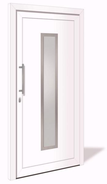 HT 1008 Kunststoff Haustür mit Glasausschnitt VORZUGSMAß - Interio