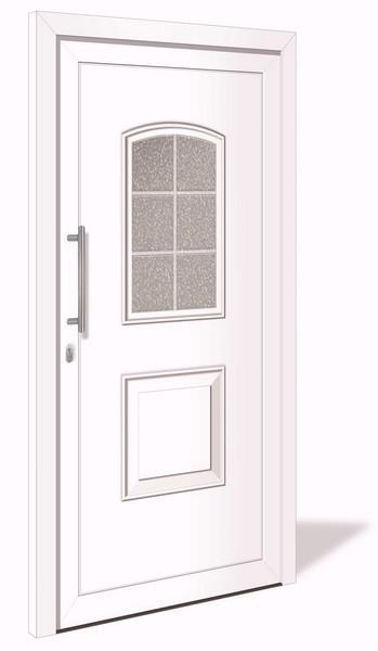 HT 1015 Kunststoff Haustür mit Glasausschnitt VORZUGSMAß - Interio