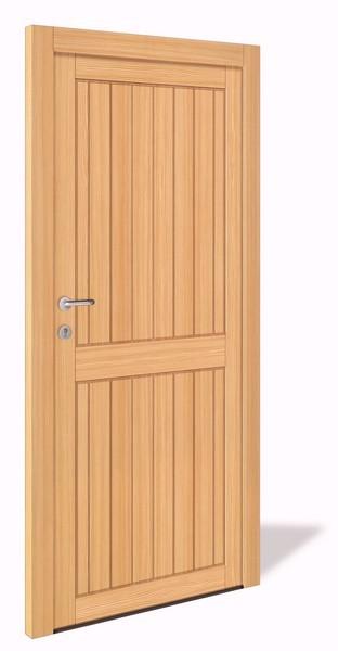 NET 1065 Holz Nebeneingangstür ohne Glasausschnitt - Interio