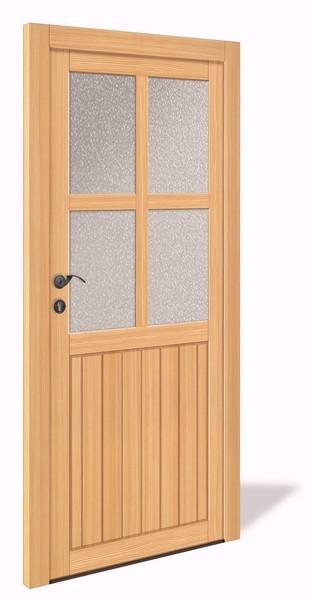NET 1067 Holz Nebeneingangstür mit Glasausschnitt - Interio