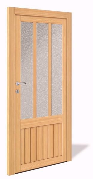 NET 1070 Holz Nebeneingangstür mit Glasausschnitt - Interio