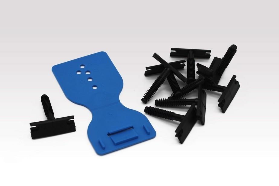 Sockeleisten Clips Easy-fix mit Bohrschablone - Interio