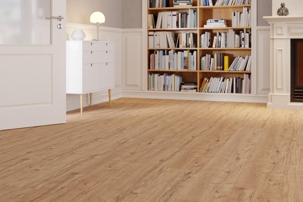 Eiche greige 1-Stab Landhausdielen Designboden Premium inkl. Trittschalldämmung Tecara DD 350 S-6934 - Meister