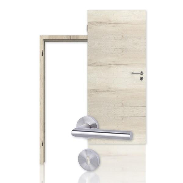 Innentür-Set Cross Nordic Eiche CPL Tür mit Zarge und Drücker