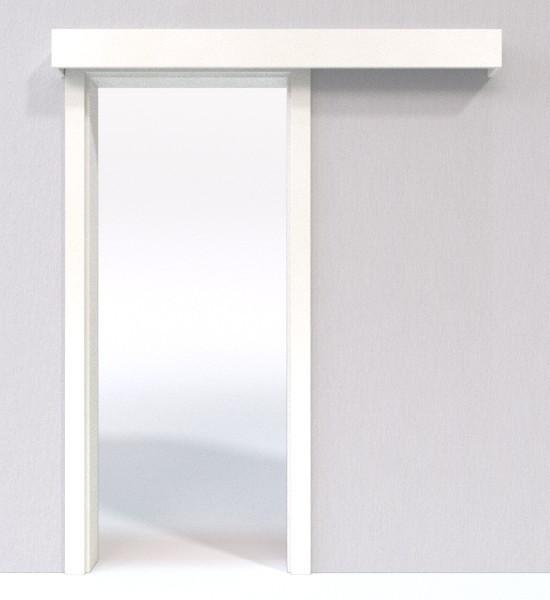 Bild 4 von Schiebetür-System Classic vor der Wand laufend Weißlack 9010 - Jeld-Wen