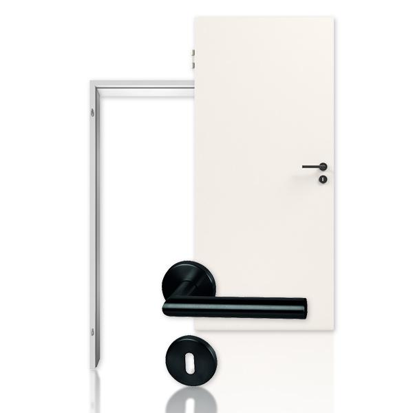 Bild Innentür-Set Rauchschutztür RS-1 in Weißlack 9010 mit Stahleckzarge