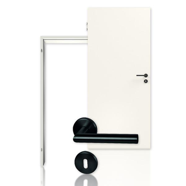 Bild von Innentür-Set Schallschutztür mit runder Zarge Weiss 9010 Lebolit-CPL