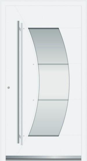 Bild 1 von Rosa Aluminium Haustür mit Glasausschnitt - Interio