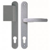Contour 92 silber Langschild Schutzbeschlag für Haustüren - Interio