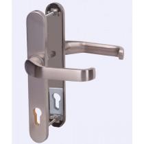No. 63 Edelstahl Langschild Schutzbeschlag für Haustüren - Interio