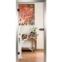 Tree Glastür Piktura Loft - Sandstrahldesign