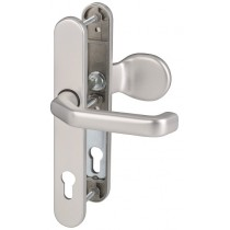 576 Aluminium Schmalrahmen Garnitur Langschild mit Zylinderabdeckung für Nebeneingangstüren