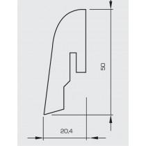 Kork Nightshade Dunkel Sockelleiste 50 (2400 x 50 x 20 mm) - Wicanders