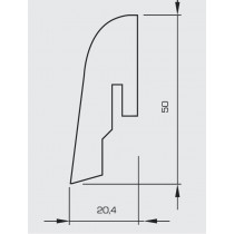 Kork Naturbraun Naturfarben Sockelleiste 50 (2400 x 50 x 20 mm) - Wicanders
