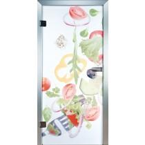 Salad Glastür Piktura Loft - Farbdrucktür