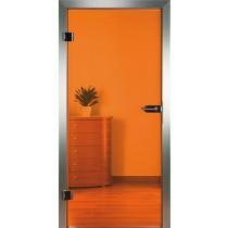 Orange Glastür Piktura Loft - Verbundglastür