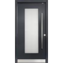 91040 Glatt Aluminium Haustür mit Glasausschnitt - Bayerwald