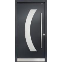 91050 Glatt Aluminium Haustür mit Glasausschnitt - Bayerwald
