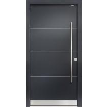 93010 Lisenen Aluminium Haustür ohne Glasausschnitt - Bayerwald