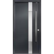 94030 Applikation Aluminium Haustür mit Glasausschnitt - Bayerwald