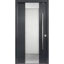 94040 Applikation Aluminium Haustür mit Glasausschnitt - Bayerwald