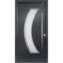 94050 Applikation Aluminium Haustür mit Glasausschnitt - Bayerwald