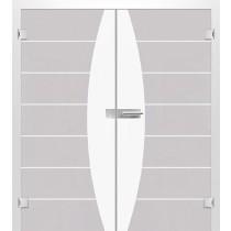 Bild von Amara Mattprint Doppelflügeltür mit Motiv klar - Erkelenz