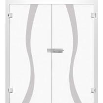 Bild von Bergamo Mattprint Doppelflügeltür mit Motiv klar - Erkelenz