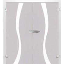 Bergamo Mattierung Doppelflügeltür mit Motiv matt - Erkelenz