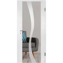 Bergamo Mattierung Holzglastür mit Motiv matt - Erkelenz