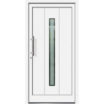 Weiße Basic Aluminium Haustür Darß 2 Glas Berlin - Brand