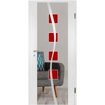 Catania rot Farbprint Holzglastür - Erkelenz