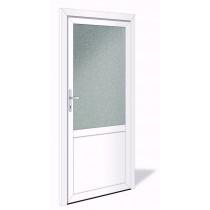 NET 1025 Kunststoff Nebeneingangstür mit Glasausschnitt - Interio