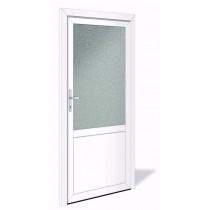 NET 1041 Aluminium Nebeneingangstür mit Glasausschnitt - Interio