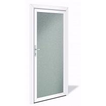 NET 1042 Aluminium Nebeneingangstür mit Glasausschnitt - Interio