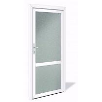 NET 1043 Aluminium Nebeneingangstür mit Glasausschnitt - Interio