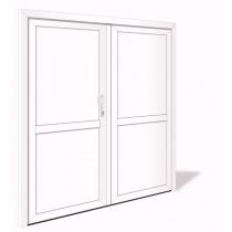 NET 1047-2 Aluminium Doppelflügel Nebeneingangstür ohne Glasausschnitt - Interio