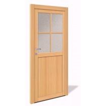 NET 1060 Holz Nebeneingangstür mit Glasausschnitt - Interio