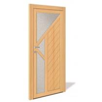 NET 1061 Holz Nebeneingangstür mit Glasausschnitt - Interio