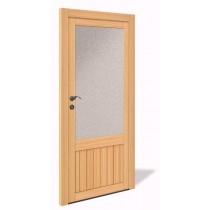 NET 1068 Holz Nebeneingangstür mit Glasausschnitt - Interio